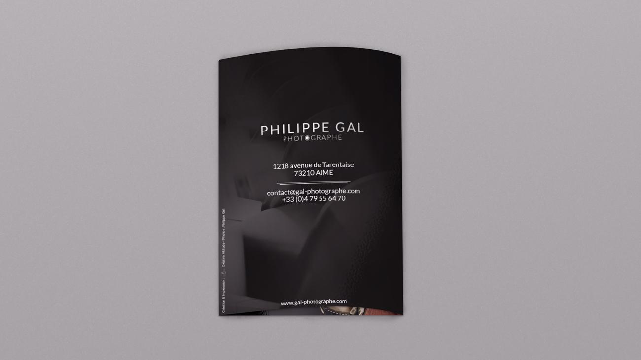 Creative Altitude - Agence Communication - Savoie - site-internet - logo - web - print - Dépliant Philippe GAL