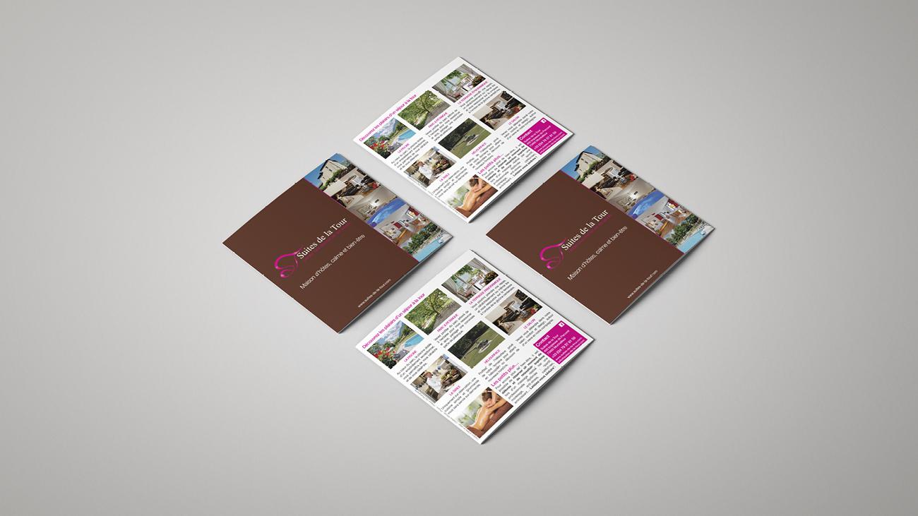 Creative Altitude - Agence Communication - Savoie - site-internet - logo - web - print - Dépliant Suites de la Tour