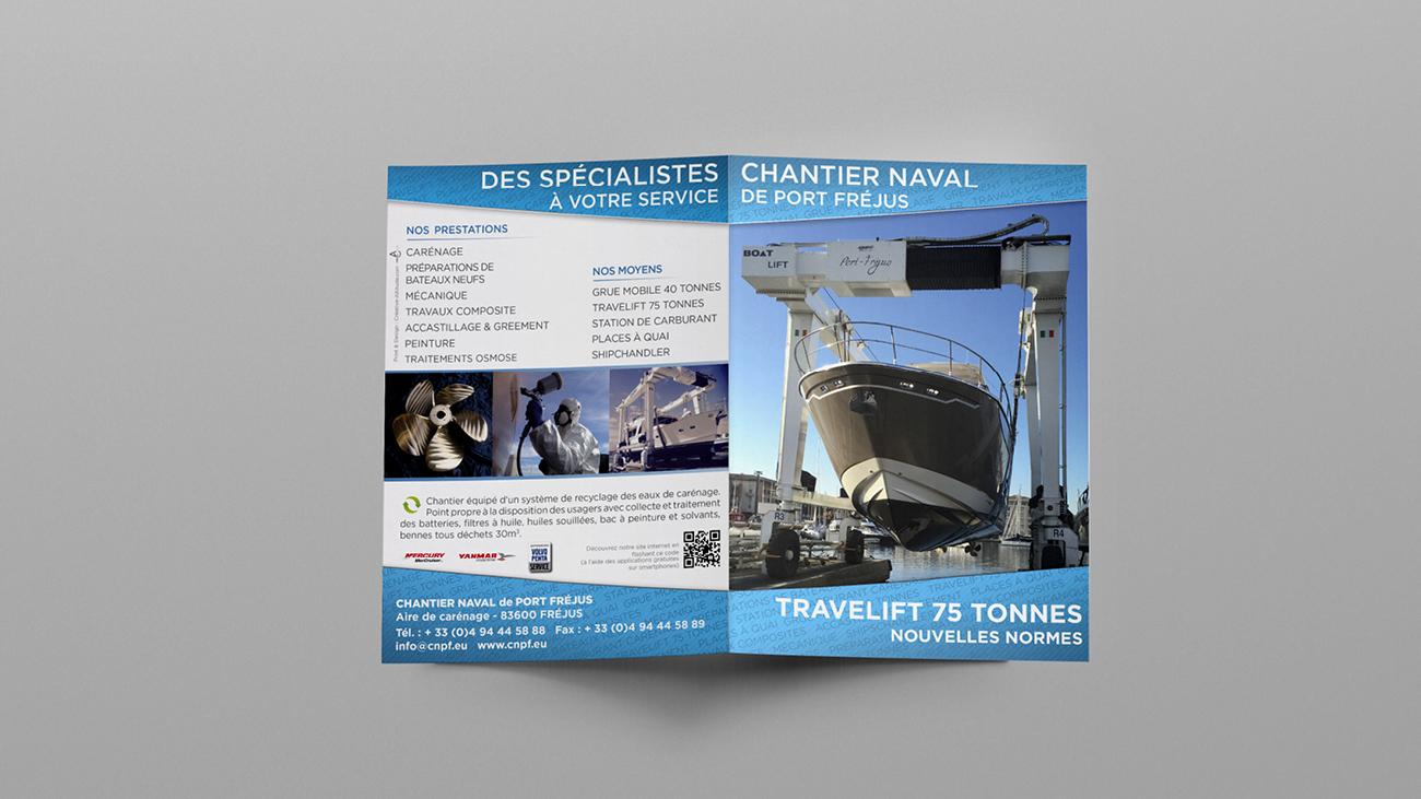 Creative Altitude - Agence Communication - Savoie - site-internet - logo - web - print - Dépliant Chantier Naval de Port-Fréjus