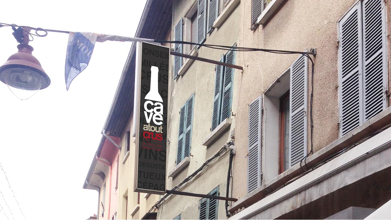 Creative Altitude - Agence Communication - Savoie - site-internet - logo - web - print - Enseigne Cave Atout Crus