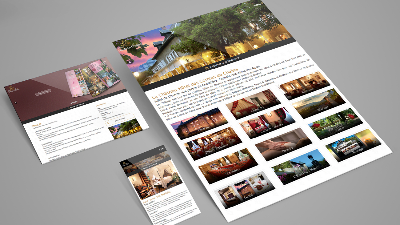 Creative Altitude - Agence Communication - Savoie - site-internet - logo - web - print - Château des Comtes de Challes