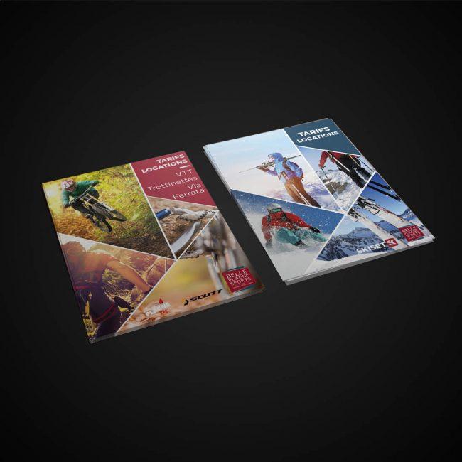 Creative Altitude - Agence Communication - Savoie - site-internet - logo - web - print - Dépliant Belle Plagne Sports