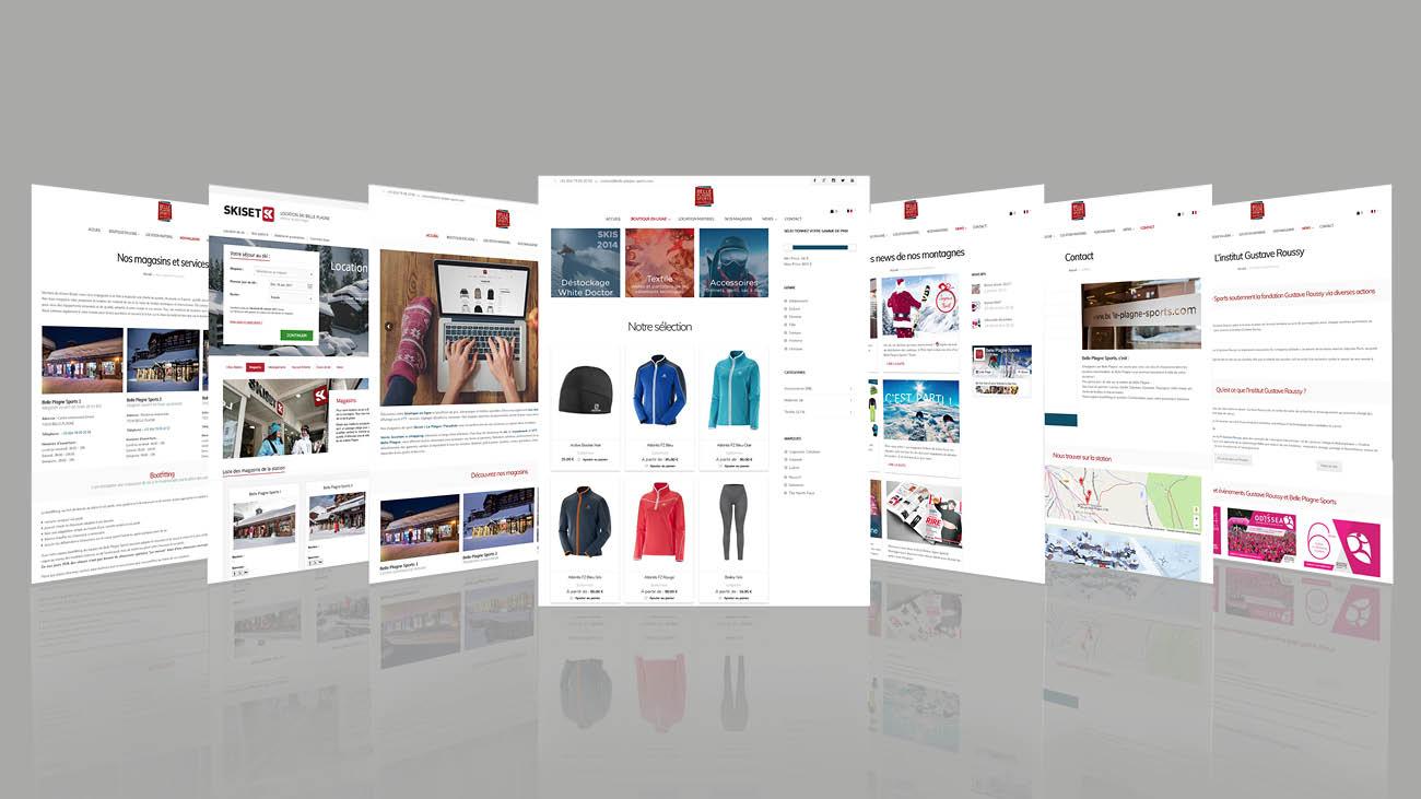 Creative Altitude - Agence Communication - Savoie - site-internet - logo - web - print - site ecommerce Belle Plagne Sport
