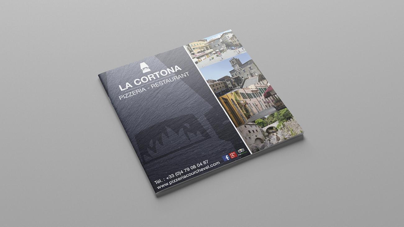 Creative Altitude - Agence Communication - Savoie - site-internet - logo - web - print - carte et menus La Cortona