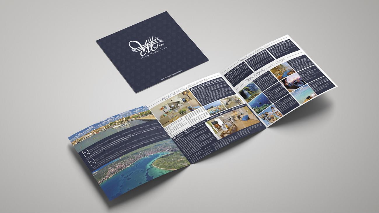 Creative Altitude - Agence Communication - Savoie - site-internet - logo - web - print - Brochure Villa Maelise