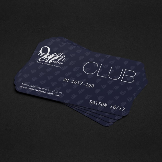 Creative Altitude - Agence Communication - Savoie - site-internet - logo - web - print - Carte club Villa maelise