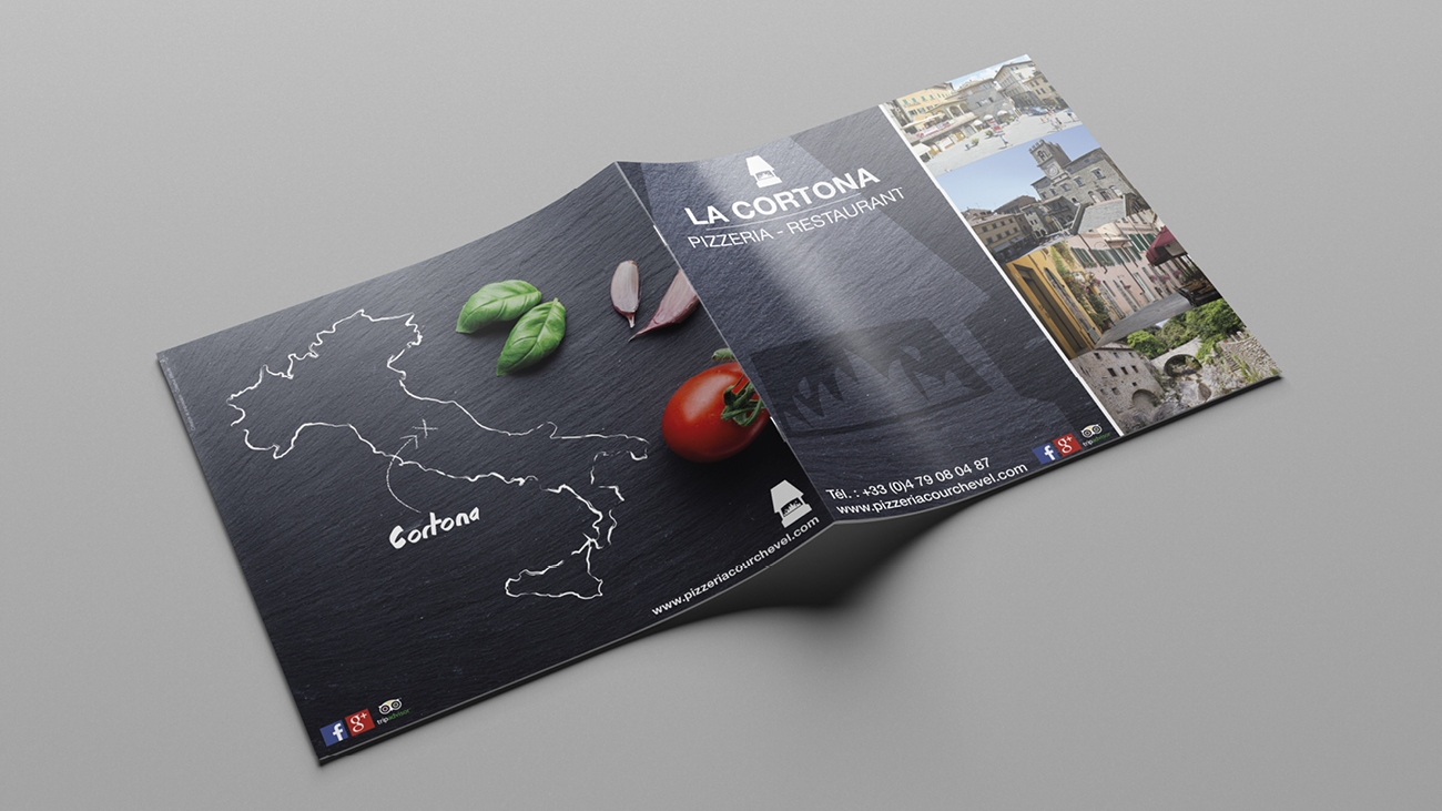 Creative Altitude - Agence Communication - Savoie - site-internet - logo - web - print - Carte et Menus La Cortona Courchevel