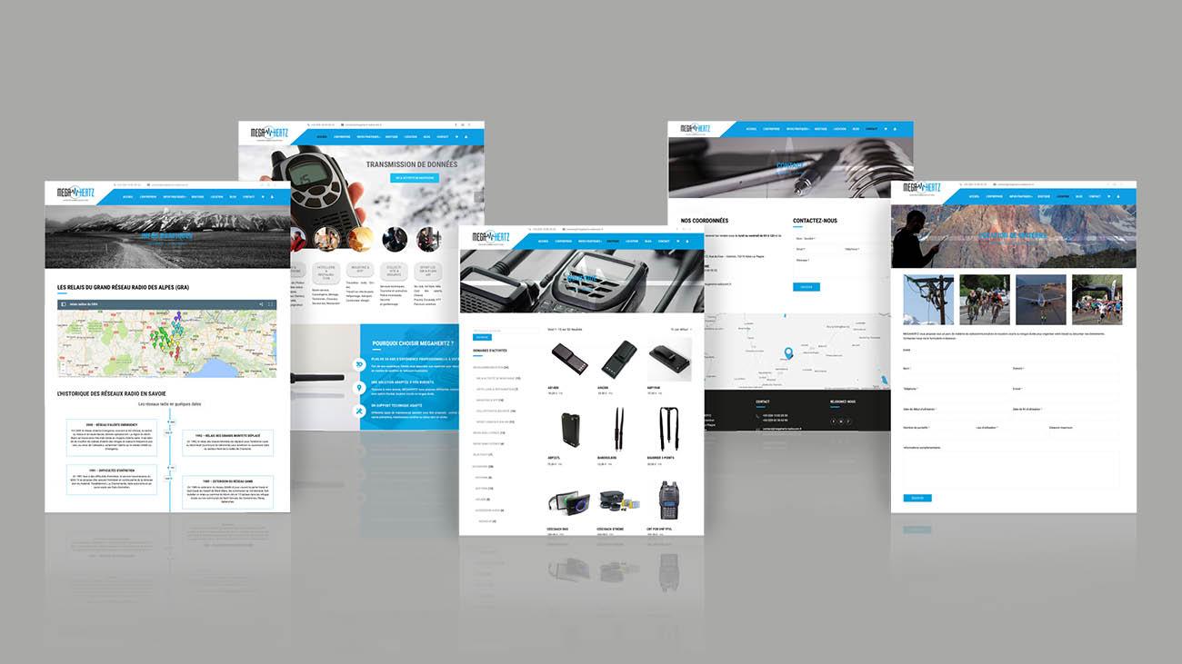 Creative Altitude - Agence Communication - Savoie - site-internet - logo - web - print - Site internet Megahertz Radiocom