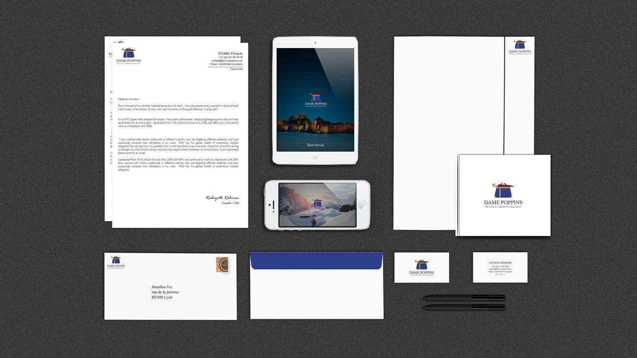 Creative Altitude - Agence Communication - Savoie - site-internet - logo - web - print - Identité visuelle Dame Poppins