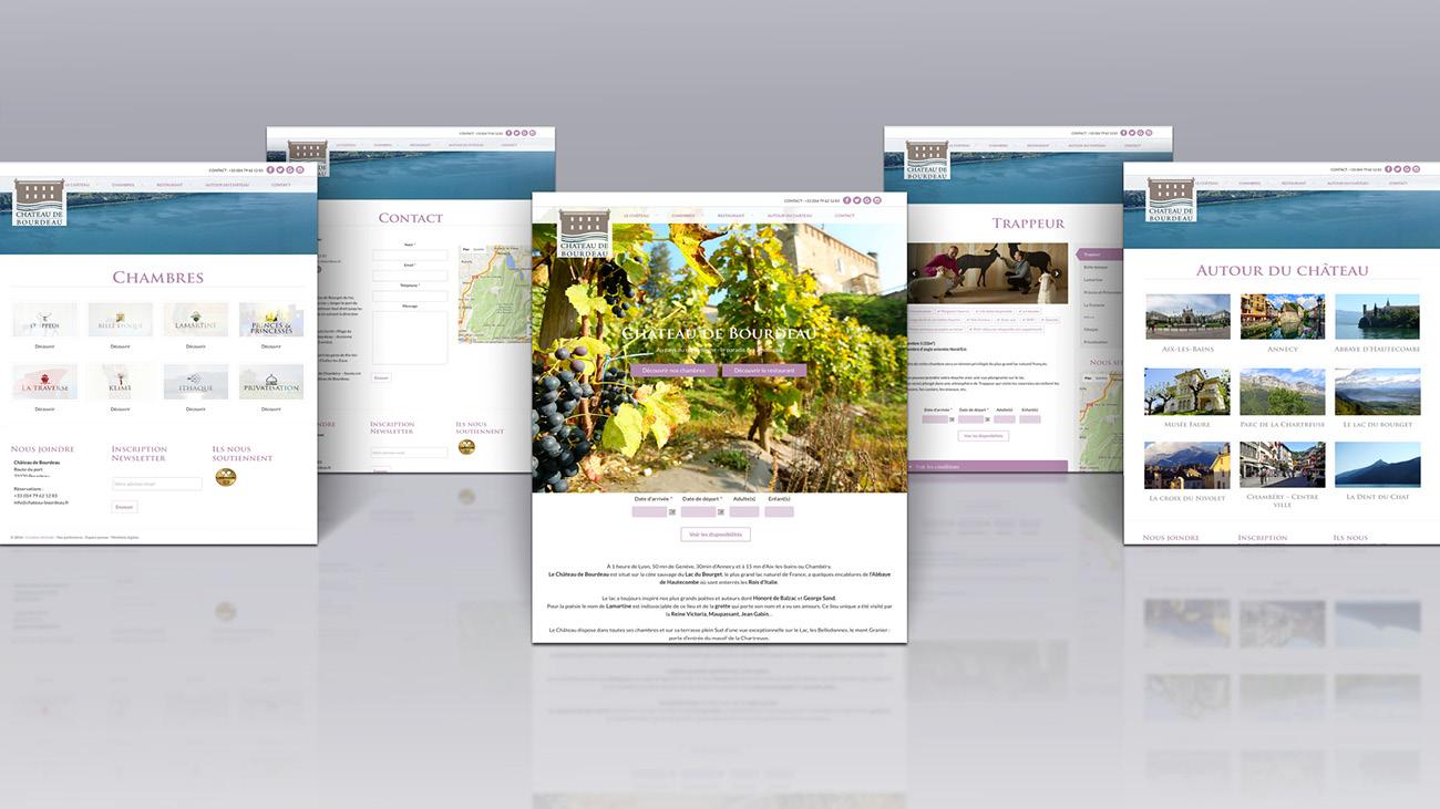 Creative Altitude - Agence Communication - Savoie - site-internet - logo - web - print - Château de Bourdeau