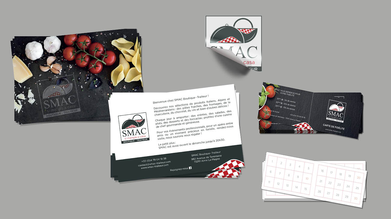 Creative Altitude - Agence Communication - Savoie - site-internet - logo - web - print - carte de fidelité SMAC Traiteur