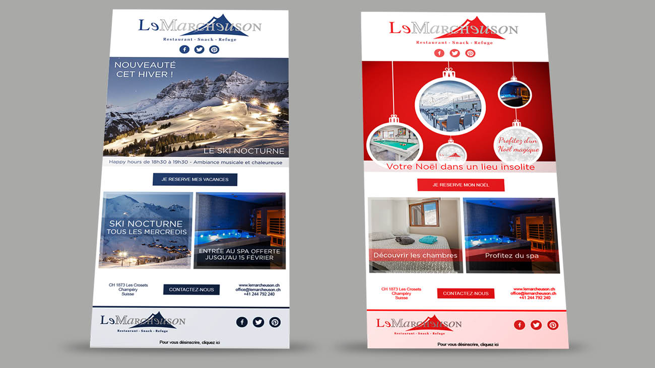 Creative Altitude - Agence Communication - Savoie - site-internet - logo - web - print - Newsletters Le Marcheuson