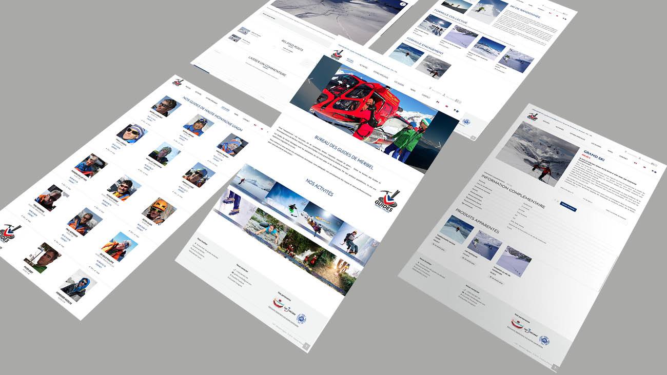 Creative Altitude - Agence Communication - Savoie - site-internet - logo - web - print - Site internet Guides de Méribel