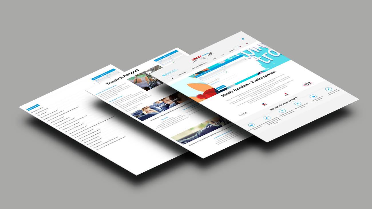 Creative Altitude - Agence Communication - Savoie - site-internet - logo - web - print - Site internet Simply Transfers