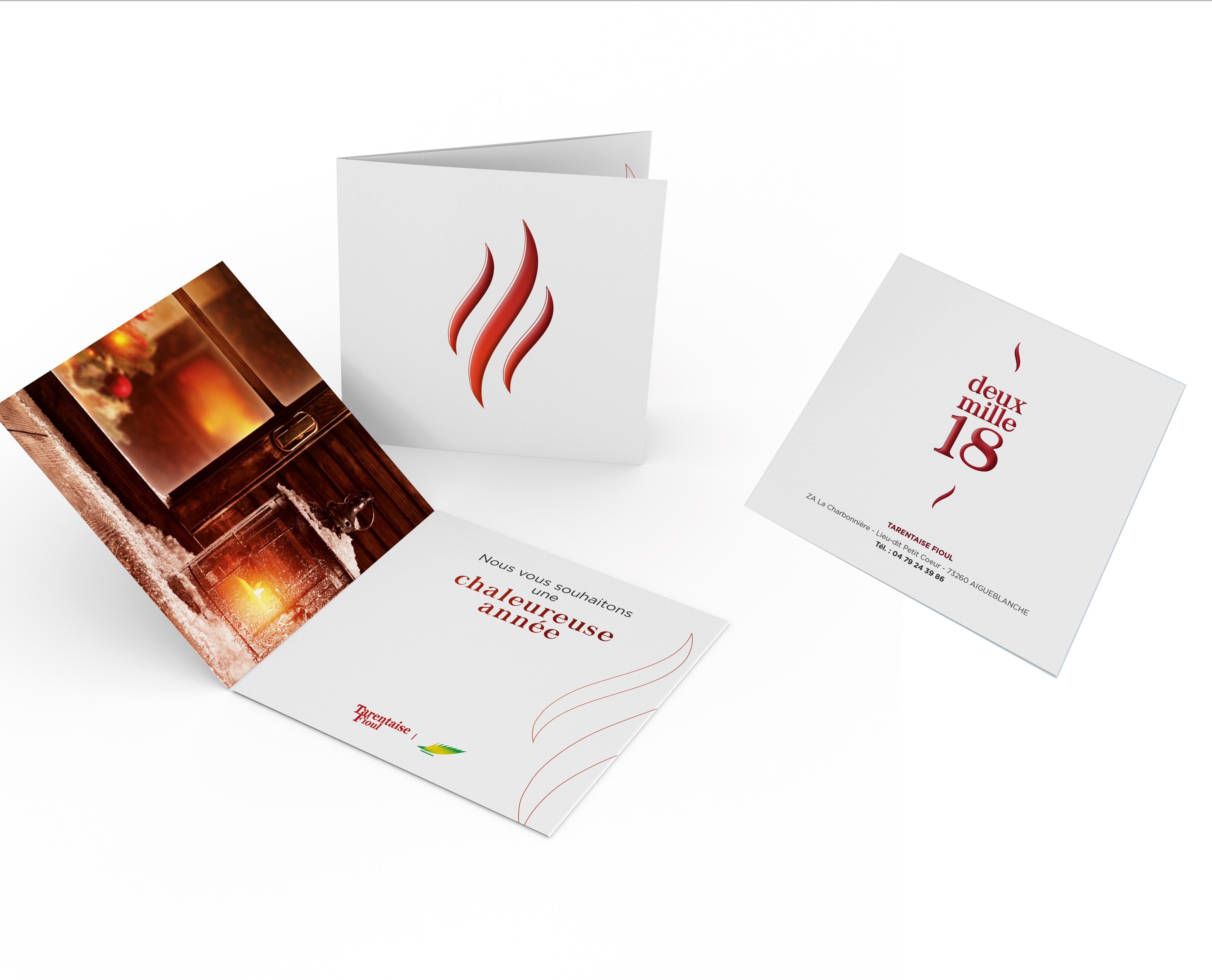 Creative Altitude - Agence Communication - Savoie - site-internet - logo - web - print - Carte de voeux Tarentaise Fioul
