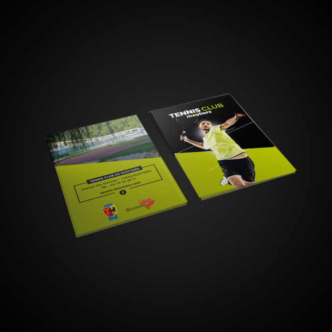 Creative Altitude - Agence Communication - Savoie - site-internet - logo - web - print - Flyer Moutiers Tennis