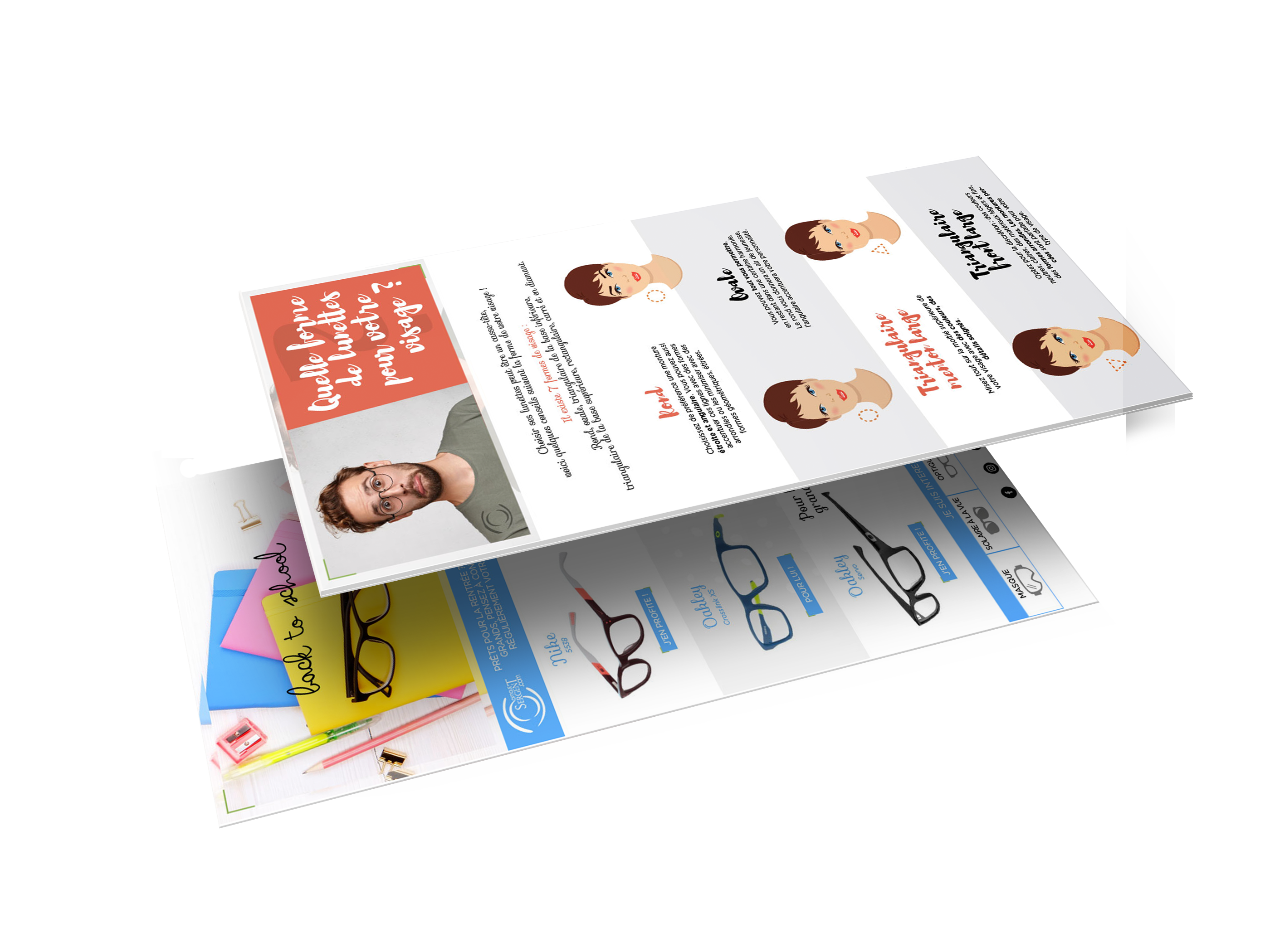 Creative Altitude - Agence Communication - Savoie - site-internet - logo - web - print - Newsletter Optique Sergent